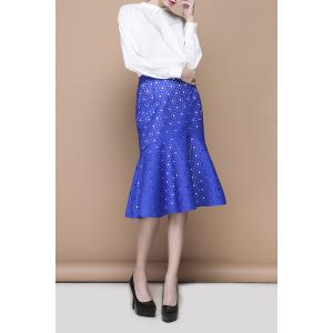 Ruffles Midi Hollow Out Skirt -