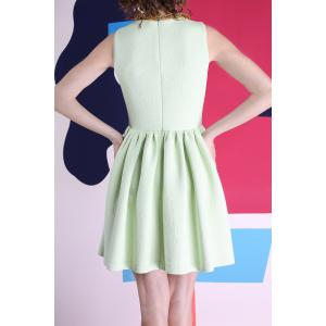 Sleeveless Skater Dress in Green -