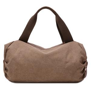Casual Buckle and Zip Design Tote Bag For Women - GRAY