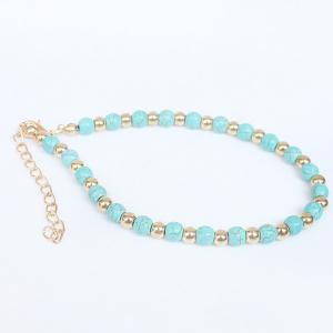 A Suit of Bohemian Style Rhinestone Girl Beaded Anklets -