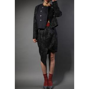Double Breasted Jacket and Asymmetric Skirt Twinset -
