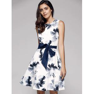 Ink Painting A Line Dress -