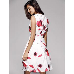 Floral Bowtie Fit and Flare Dress -