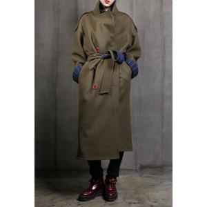 Double Breasted Reversible Belted Coat -
