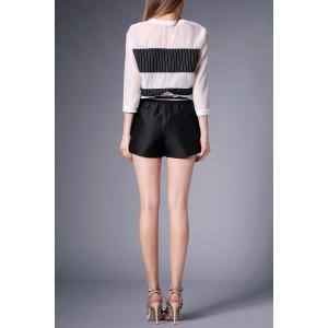 Stripe Sheer Top with Shorts -