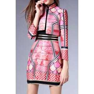 Mini Print Dress with Jacket -