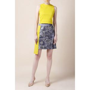 Sunflower Color Block Asymmetrical Skirt -