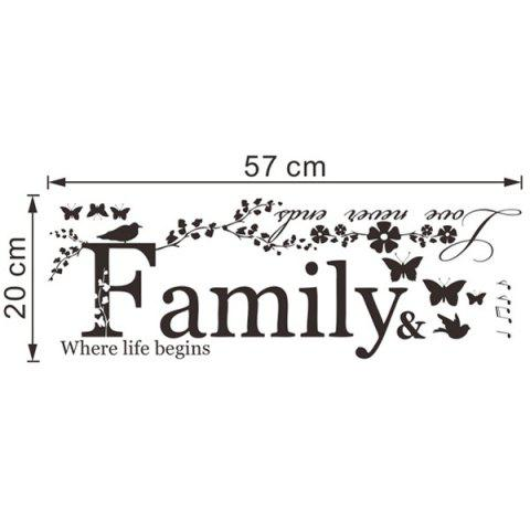 Shop High Quality Removable Family Butterfly Wall Art Sticker - BLACK  Mobile