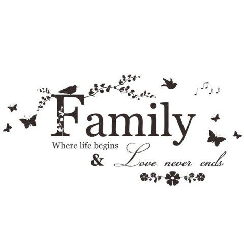 New High Quality Removable Family Butterfly Wall Art Sticker - BLACK  Mobile