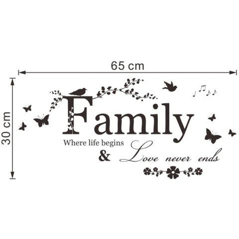Trendy High Quality Removable Family Butterfly Wall Art Sticker - BLACK  Mobile