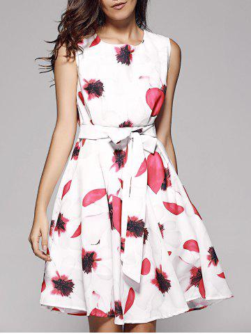 Outfit Floral Bowtie Fit and Flare Dress