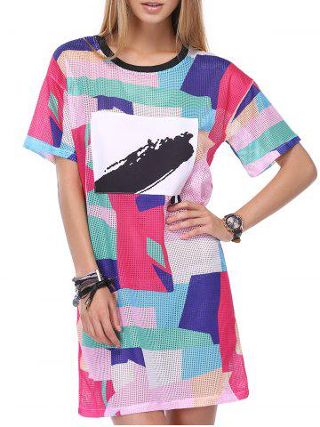 Outfit Chic Women's Multicolor 1/2 Sleeve Dress