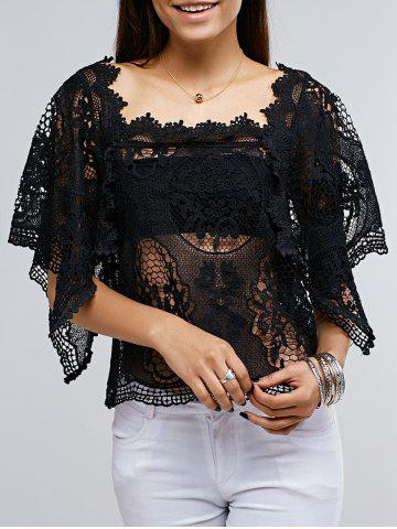 Shops Lace Crochet See Though Cover Up Top