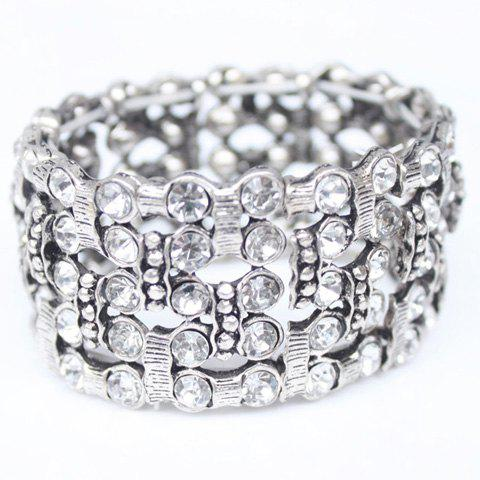 Chic Multilayered Rhinestone Alloy Bracelet