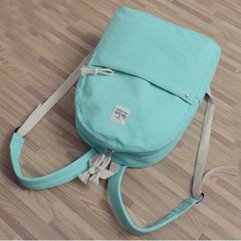 Buy Simple Zippers and Canvas Design Backpack For Women - MINT GREEN  Mobile