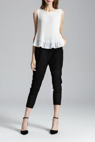 Outfits High Low Tank Top and Capri Pants Twinset