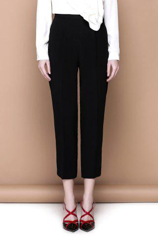 New Zippered Black Empire Waist Pants