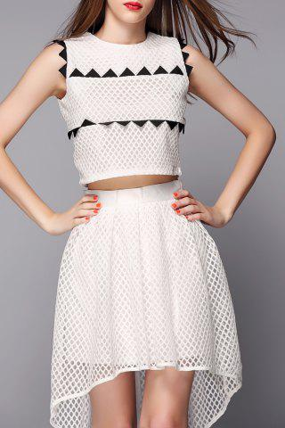 Shop High Low Skirt with Crop Top