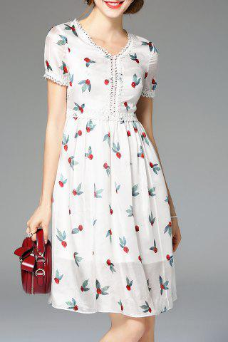Hot Embroidery Hem Hollow Out Dress