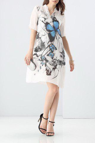Outfits Loose Butterfly Print Dress and Cami Tank Top Suit
