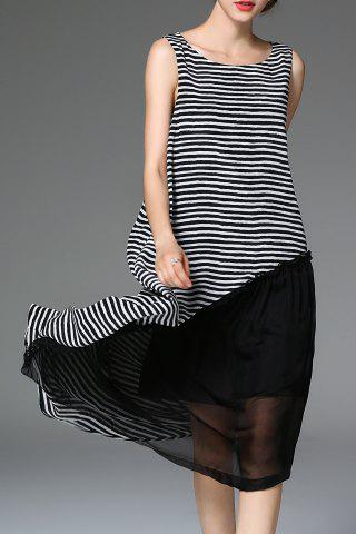 Outfits Striped Ruffled Midi Dress