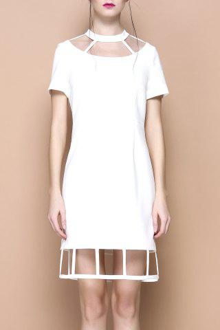 New Cut Out Solid Color Mini Dress