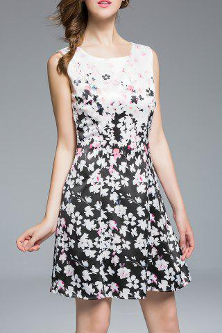 Affordable Floral Pattern Sleeveless Dress