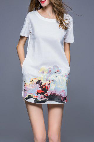 Unique Abstract Print Tee Dress