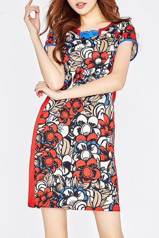Discount Beaded Embellished Print Cheongsam Dress