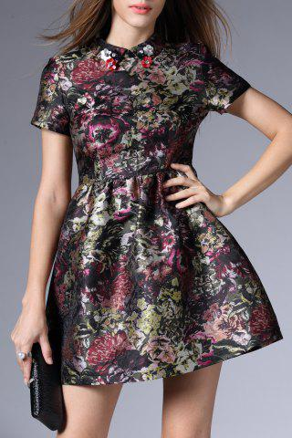 Outfit Short Flare Floral Dress
