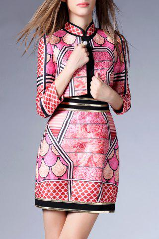 Hot Mini Print Dress with Jacket