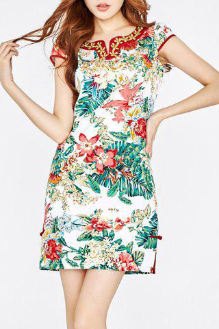 Store Embroidery Pattern Cheongsam Dress