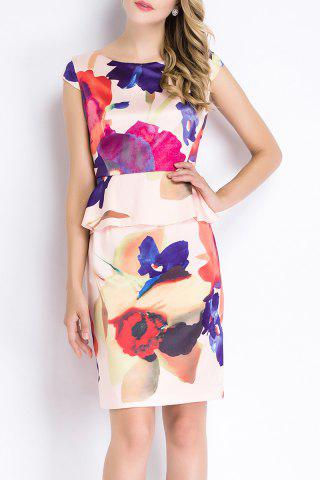 Outfit Flower Print Ruffled Dress