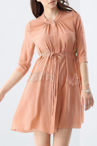 Shops Lace Splicing Solid Color Dress