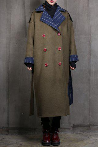 Hot Double Breasted Reversible Belted Coat
