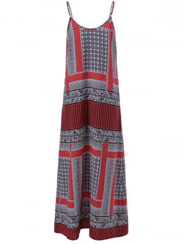 Online Long Print Slip Boho Dress - S COLORFUL Mobile