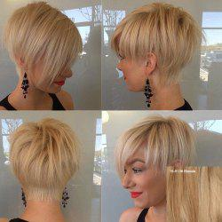 Fashion Short Fluffy Side Bang Human Hair Wig For Women