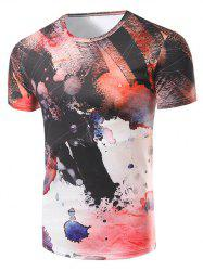 Fashion Round Collar Printing T-Shirt For Men