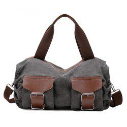 Casual Buckle and Zip Design Tote Bag For Women -