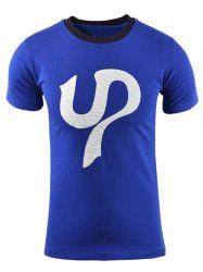 Casual Printed Short Sleeves Cotton T-Shirt For Men -