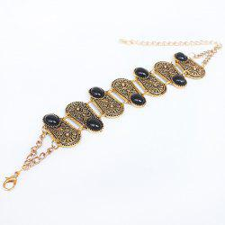 Gorgeous Faux Gem Oval Bracelet For Women - GOLDEN