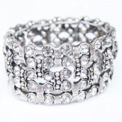 Multilayered Rhinestone Alloy Bracelet