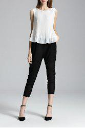 High Low Tank Top and Capri Pants Twinset -
