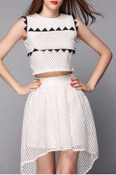 High Low Skirt with Crop Top -