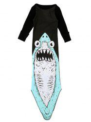 Motif mignon manches longues Shark Baby Girl Romper  's -