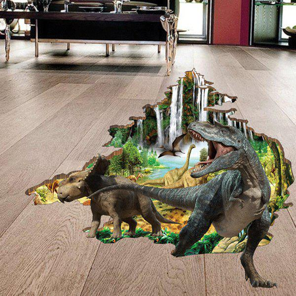 Dinosaur Forest 3D Removable Wall Stickers For Kids RoomsHOME<br><br>Color: COLORMIX; Wall Sticker Type: 3D Wall Stickers; Functions: Decorative Wall Stickers; Theme: Animals; Material: PVC; Feature: Removable; Size(L*W)(CM): 60*90cm; Weight: 0.446kg; Package Contents: 1 x Wall Art Sticker;