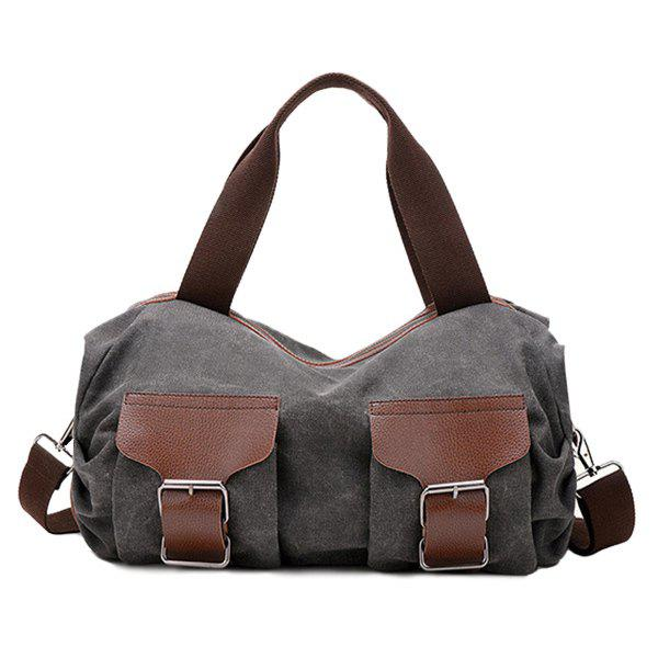 Discount Casual Buckle and Zip Design Tote Bag For Women