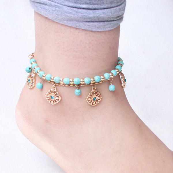 Green A Suit Of Bohemian Style Rhinestone Beads Anklets