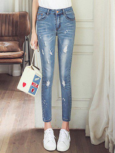 Sale Skinny Ripped Ninth Jeans