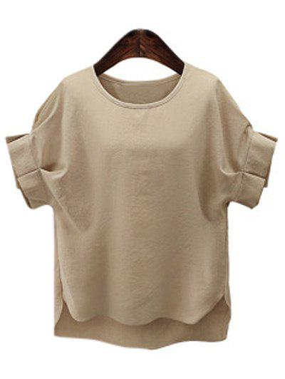 Affordable Plus Size Short Sleeve Ruffled Women's T-Shirt